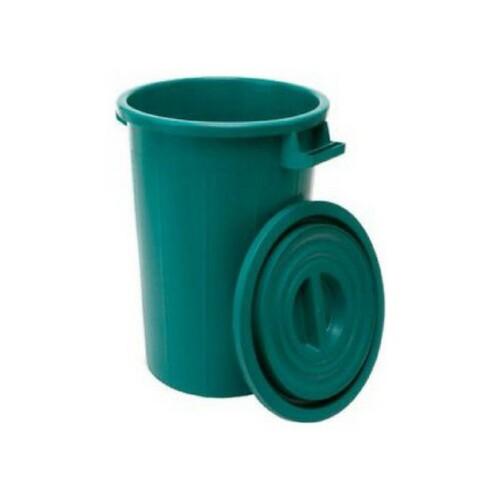 bidone plastica verde