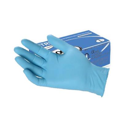 A1182l guanti vitril5 ce monouso blu senza polvere