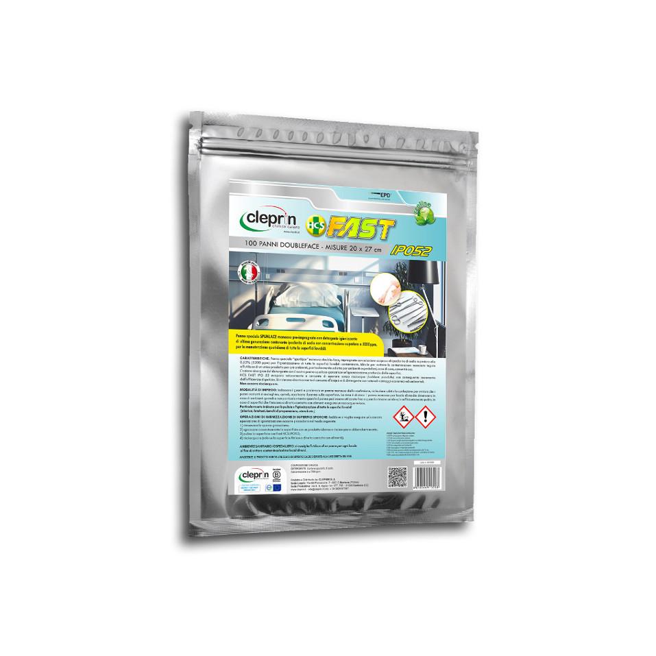 IPO52 Panni Monouso Impregnati con soluzione Biocida